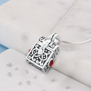 Treasure Chest Urn Pendant