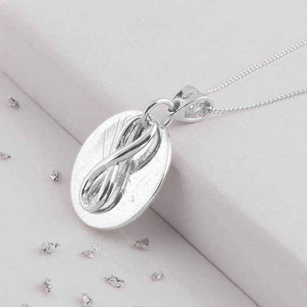 Ashes or Hair Imprint, Eternal Love Knot Memorial Pendant