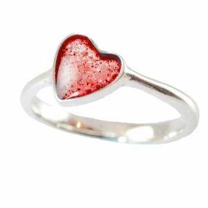 Eternity Crystallure Heart Memorial Ring, Red