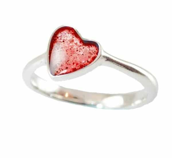 Eternity Crystallure Heart Memorial Ring, Red