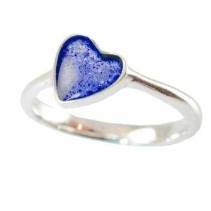 Eternity Crystallure Heart Memorial Ring, Blue