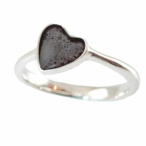 Eternity Crystallure Heart Memorial Ring, Black