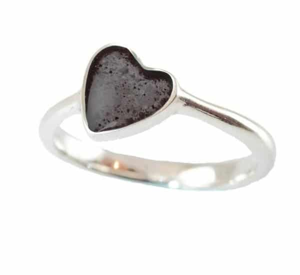 Eternity Crystallure Heart Memorial Ring, Black