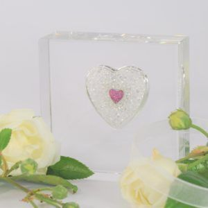 Square Sparkle Heart Memorial