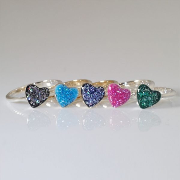 Eternity Crystallure Heart Memorial Ring, Amethyst