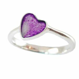 Eternity Crystallure Heart Memorial Ring, Amethyst