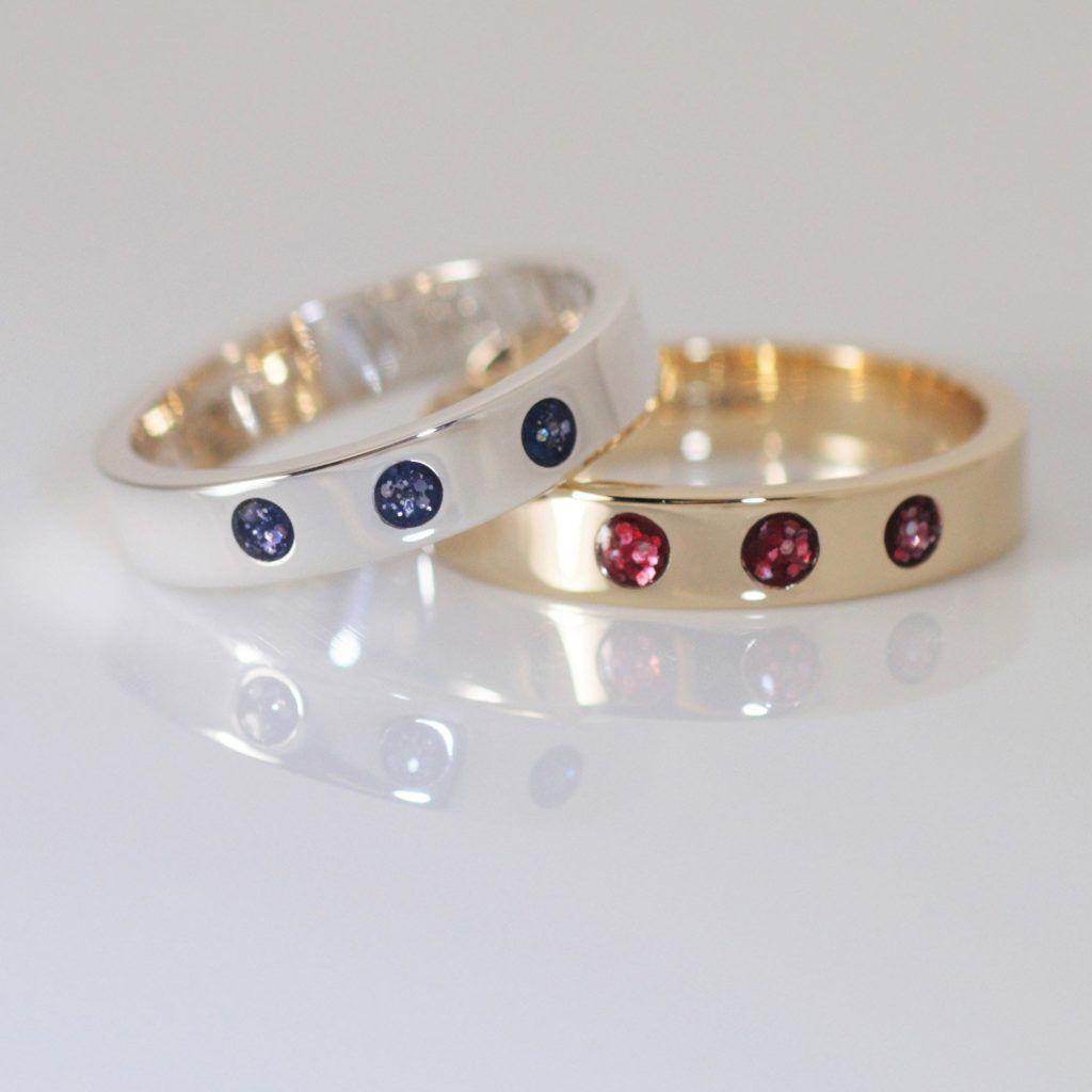 Crystallure Trilogy Memorial Ring 4mm diameter