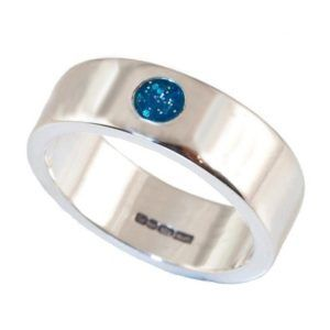 Crystallure Mono Stone Memorial Ring, 6mm Band